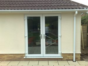 White uPVC French Door - External